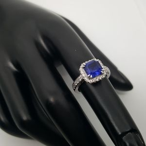 Blue Sapphire & Silver Ring